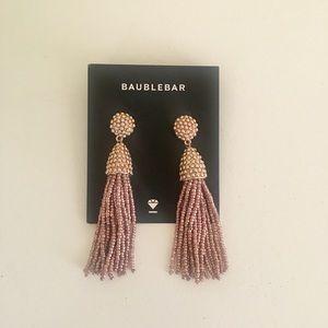 baublebar tassel earrings in rose gold